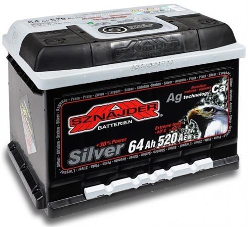 Autobaterie 64Ah Silver
