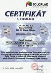 Certifikát pro aplikaci aktivních fotokatalytickýc nátěrů AKTIVNÍ NANOSTĚNA A AKTIVNÍ NANOŠTÍT Karel Koubek Vaše spolehlivé rodinné malířství