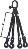 Čtyřpramenný popruh skládaný - čtyřhák