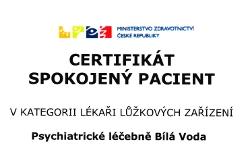Certifikát Spokojený pacient - kategorie lékaři