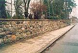 Oprava opěrné zdi             Sobotín