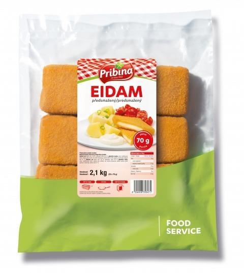 Předsmažený sýr  Eidam 70gr porce