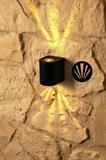 Venkovní nástěnné svítidlo Canti max černá