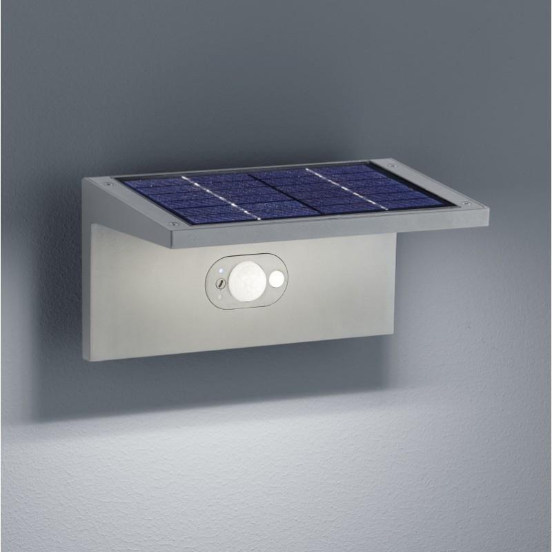 Venkovní nástěnné svítidlo s čidlem pohybu Drift solar šedé