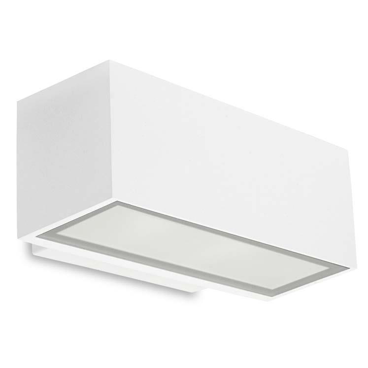 Venkovní nástěnné LED svítidlo Alba bílá,  šířka 22 cm, 11,5 W