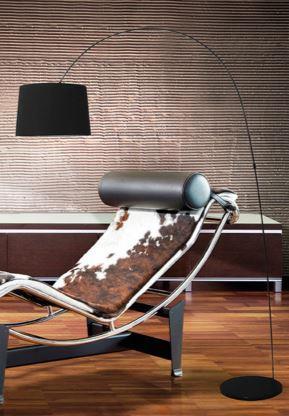 Stojací lampa Adriana černá