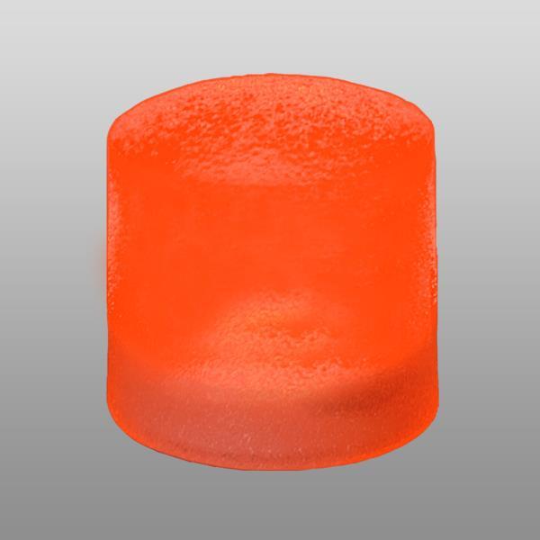 Zápustné exterierové svítidlo Spot  průměr 7,8 cm, oranžové