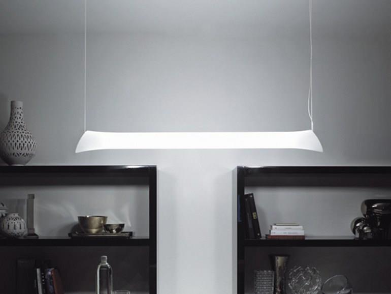 Závěsné svítidlo z mléčného skla Lepanto