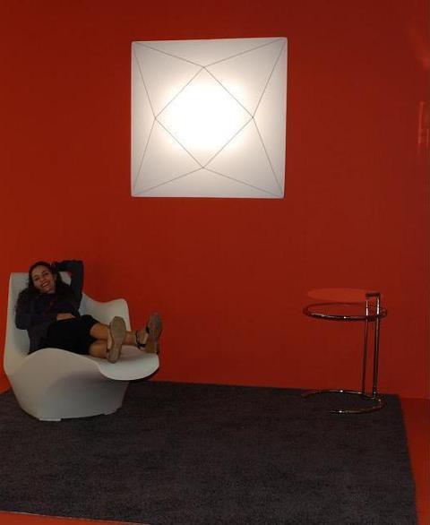 Přisazené látkové svítidlo Polaris 100 x 100cm