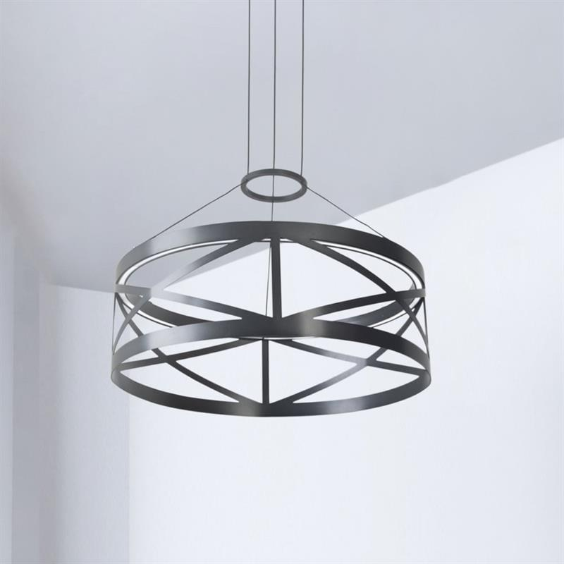 Stropní závěsné svítidlo Train kruhové, 58 cm