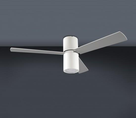 Stropní ventilátor s osvětlením na dálkové ovládání Formentera bílá