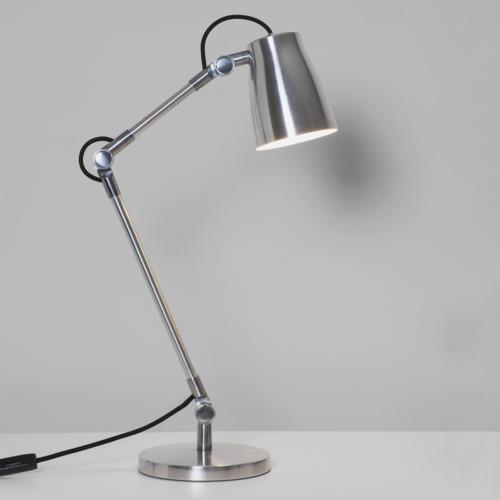 Stolní lampa Base leštěný hliník
