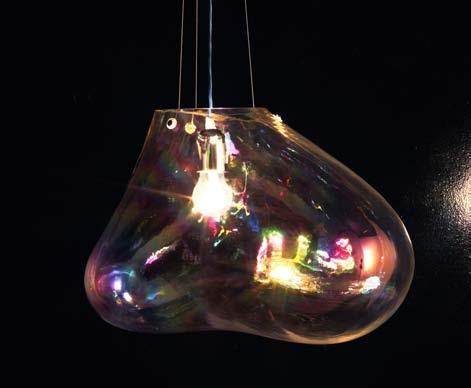 Závěsné svítidlo z čirého skla Bolla velké