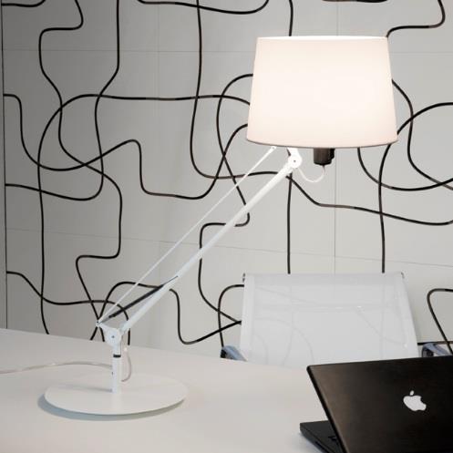 Stolní lampa Lektor bílá
