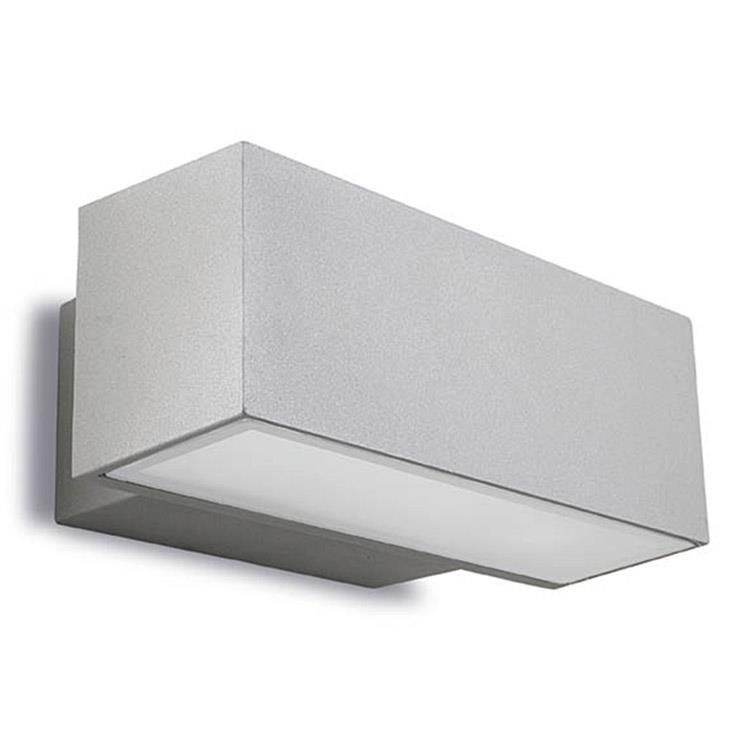 Venkovní nástěnné svítidlo Alba šedá,  šířka 22 cm, LED 11,5 W
