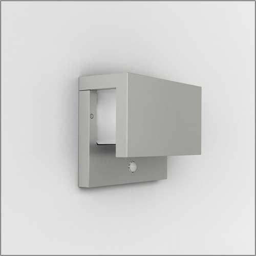 Venkovní nástěnné svítidlo s pohybovým čidlem PACK šedá