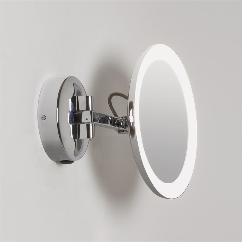 Nástěnné svítící kosmetické zrcadlo Mascali Round