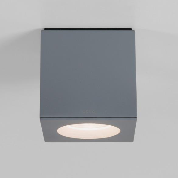 Stropní přisazené svítidlo Kos šedé 8 x 8  cm