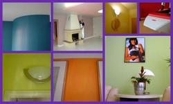 barvy v bytě barevný interiér koláž