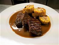 Jelení biftečky, kukuřičný klas