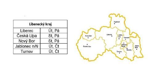 Rozvozy Liberecký kraj