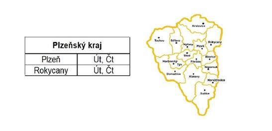 Rozvozy Plzeňský kraj