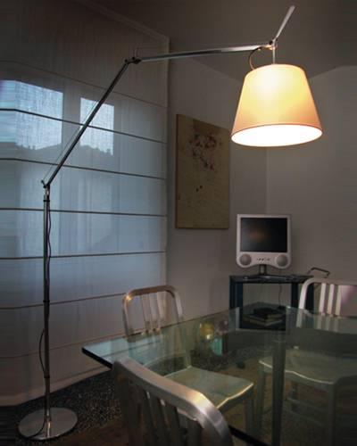 stojac lampa artemide tolomeo mega terra se stm va em a st nidlem pergamen 42cm impala design. Black Bedroom Furniture Sets. Home Design Ideas