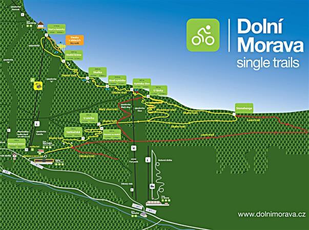 penzion Chata Na Mlýně - Single trails Dolní Morava - cyklotrasy v Jeseníkách