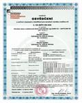 Osvědčení o ověření vlastností a klasifikaci pro označení výrobku značkou CE č. CE-ZSTV-09-046